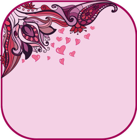 floral Valentine s day background Stock Vector - 18147509
