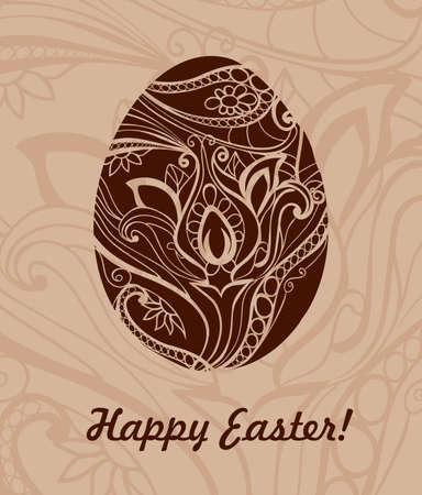 Ornamental easter egg Stock Vector - 19026875