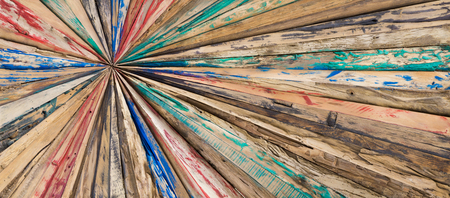 starlike: Starlike wood planks. Painted and grinded texture background. Stock Photo