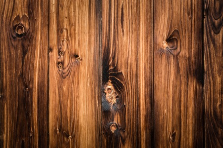 Rustic wood planks background with nice vignetting Stock Photo