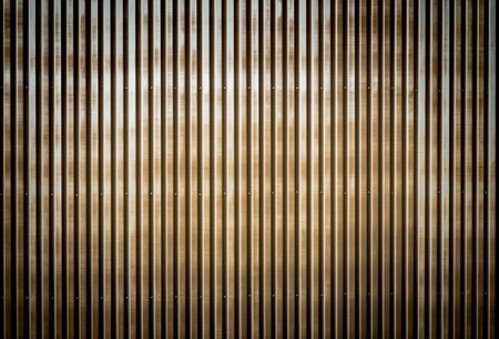 sheet metal: Old rusty corrugated metal wall of a barn building