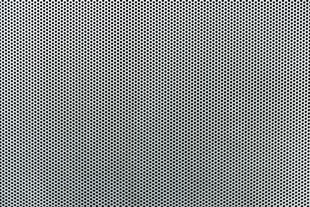 grid background: Gray metallic background with perforation of round holes