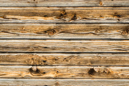 Natural brown barn wood wall. Wooden textured background pattern. Stock Photo