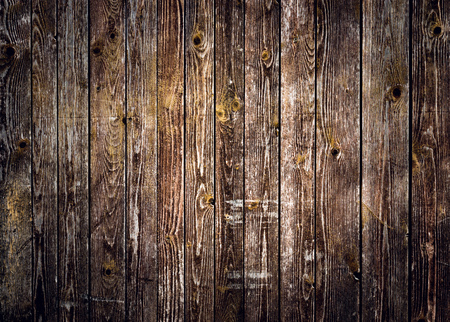 Rustic wood planks background with nice vignetting Imagens