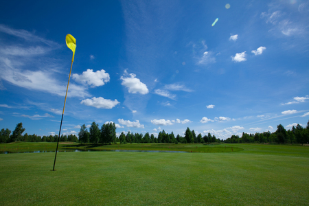 lux: Golf  club field grass course active leisure Stock Photo