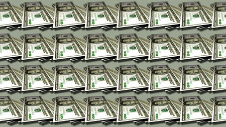 us paper currency: Twenty dollars tile pattern seamless money background