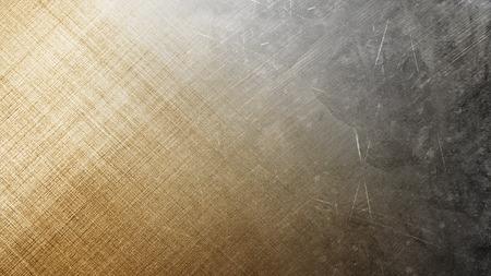 グランジ テクスチャを抽象化します。金属銀と黄色の背景 写真素材