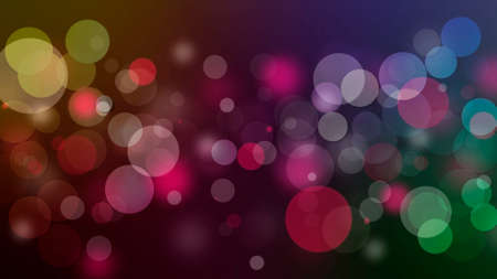 Christmas shiny background with lights and copy space in rainbow colors