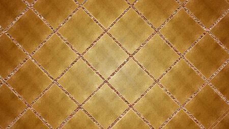 detail shot of gold mosaic tile structure as a background image Banco de Imagens