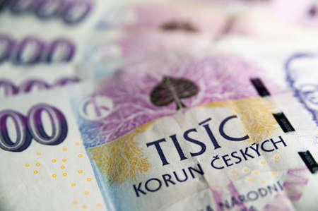 捷克錢細節 版權商用圖片