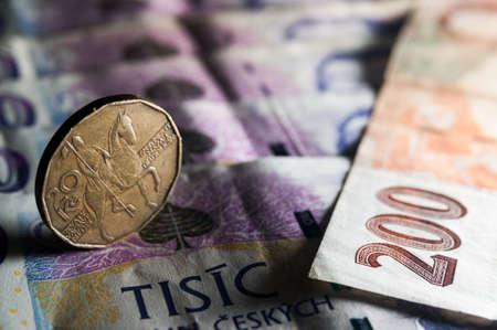 Czech Money closeup 版權商用圖片