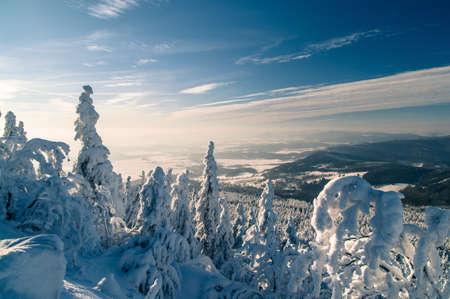 冷凍日落 版權商用圖片