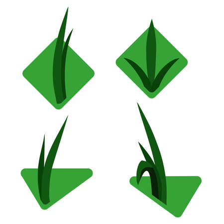 Abstract background of grass. Ecology icon is the environment and detail of the eco element. Illustration