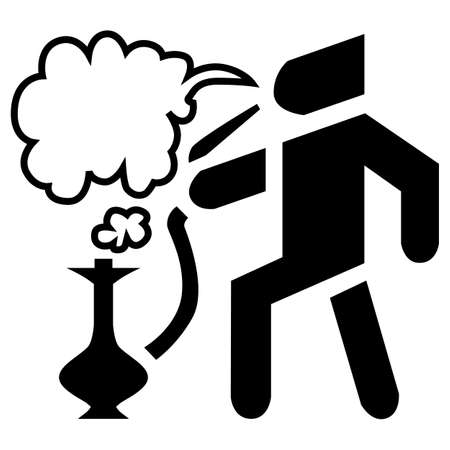 Hookah vector. Shisha pipe hose and bar icon.