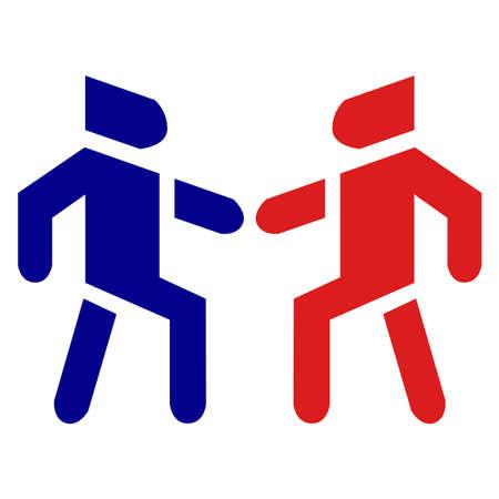 People social brotherhood relationship bonding in vector icon.