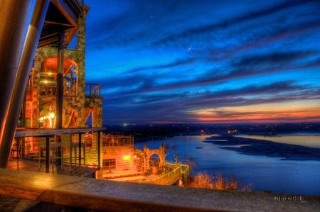 austin: Sonnenuntergang am Lake Travis, Austin, TX
