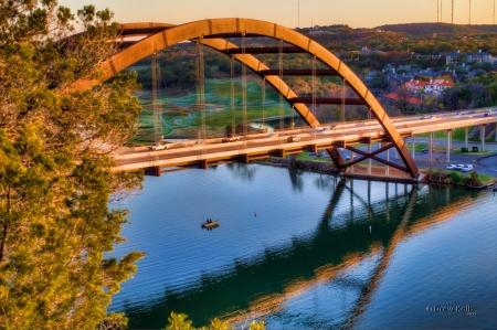 austin: PennyBacker Bridge, Austin, TX Stock Photo