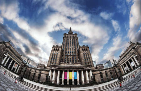popular science: Palace Of Culture And Science, Most famous building in Warsaw Poland - Palace of Culture and Science