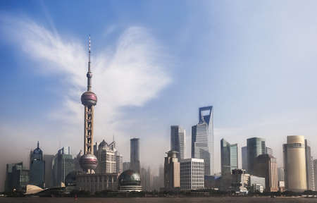 Panorama of Shanghai, China Stock Photo