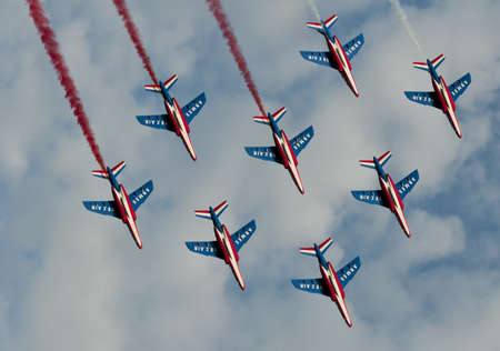 patrouille de france at air show, radom, poland 2011