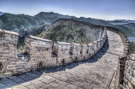 mutianyu: Great Wall at Mutianyu near Beijing, China Stock Photo