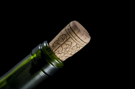 macro photo of wine bottle isolated on a black background Stock Photo - 17981195