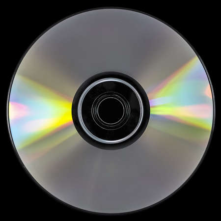 CD/DVD isolated on black. Stock Photo - 17981196