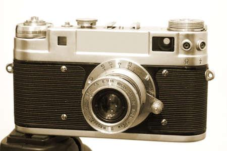 tripod mounted: Vintage Camera 3 Mounted On Tripod