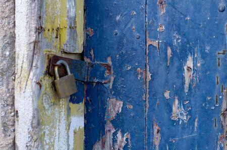 doorlock: Old Locked Door Stock Photo