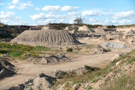 blasting: Gravel Pit in Rural Setting Stock Photo