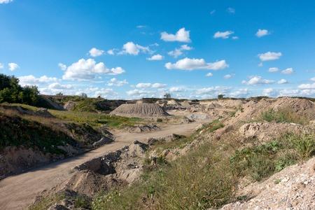 gravel pit: Gravel Pit and Equipment