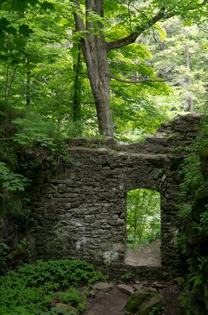 Old Stone Doorway Ruins Banco de Imagens