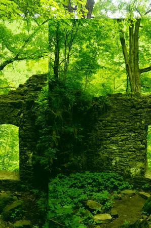 Old Stone Doorway Ruins Stock Photo