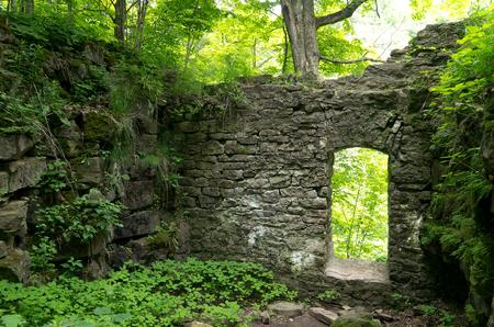 Old stone doorway as ruins