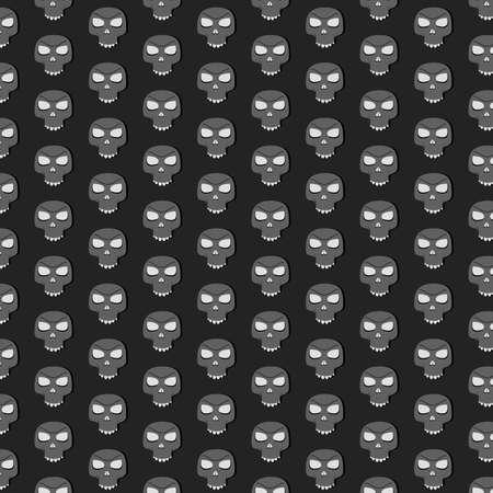 mandible: Skull pattern without mandible  Black background  Illustration