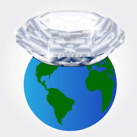 buried: Giant diamond buried on planet earth