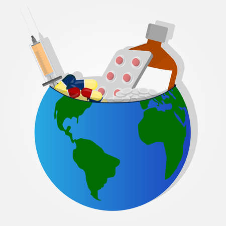 remedies: Remedies and drugs on planet earth like a bowl