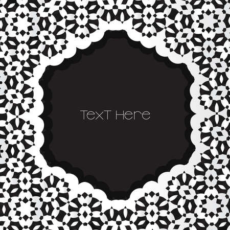 black metallic background: Metallic and silver frame with copy space in center  Black background