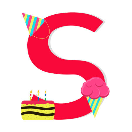 Letter s from stylized alphabet with candies Vector