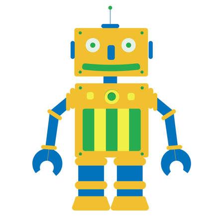 흰색 배경에 장난감 로봇. 입니다. 스톡 콘텐츠 - 31873225