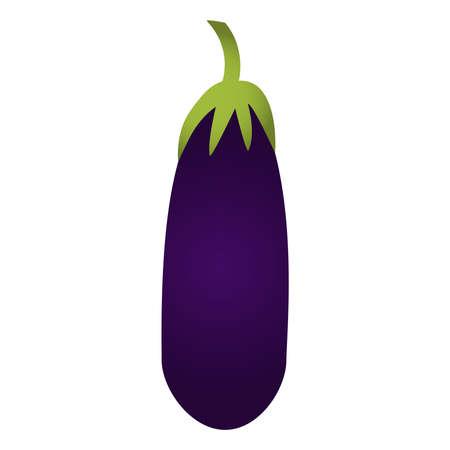 aubergine: Eggplant isolated on a white background. Illustration