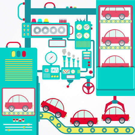 기계 및 그리퍼 처리 자동차와 자동차 산업입니다.