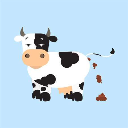 Cow shitting. Фото со стока - 53771107