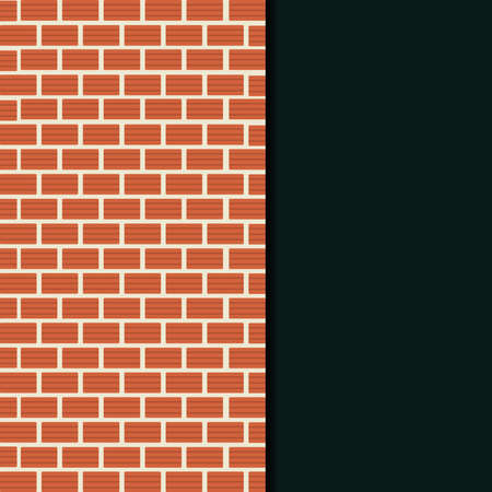 clay brick: Clay brick wall card. Empty space for insert text. Illustration