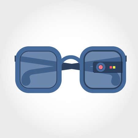 Virtual reality glasses. Glasses coupled to a virtual reality equipment.