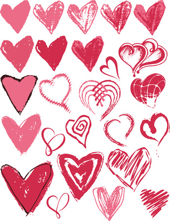 Heart texture icon Vector