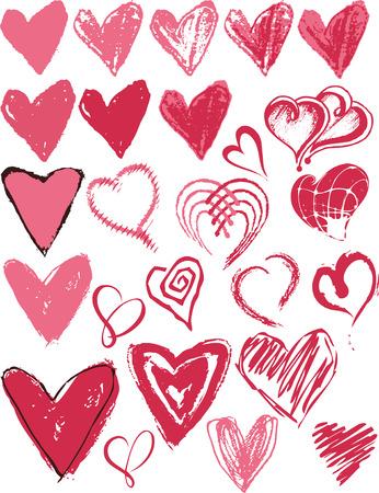 Heart texture icon Stock Vector - 4337063