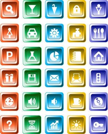 web business button icon Vector