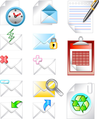 spam mail: Web internet email icon Illustration