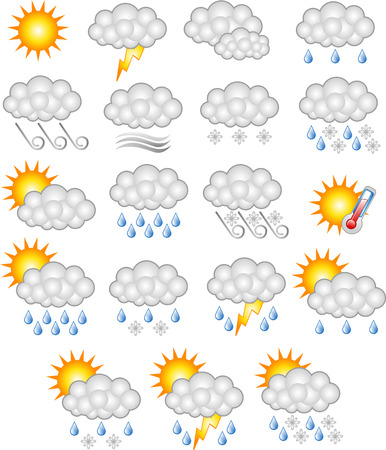 weather forecast business icon Vector